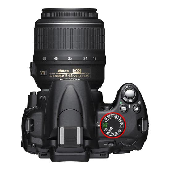 حالتهای مختلف در دوربین - Nikon D5000